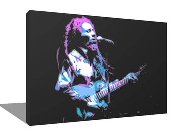 Bob Marley 1980 100% Cotton Canvas Print Using UV Archival Inks Stretched & Mounted