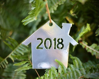 New home ornament/ house ornament/ first home ornament/ metal christmas ornament
