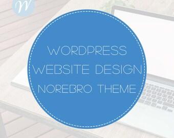 Wordpress Website Design with Norebro Theme   Website Design, WordPress Website, Website Development, Blog