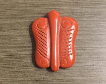 Red Jasper Carved Butterfly