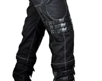 Cryoflesh Fallout Gothic Metal Steampunk Industrial Cyberpunk D Ring Pants