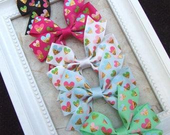 Classic Pinwheel Hair Bows, Hair Clips For Baby, BEST SELLER, Heart Hair Bow Clips, Toddler Girl, Girl Hair Clips, Teen Hair Clips