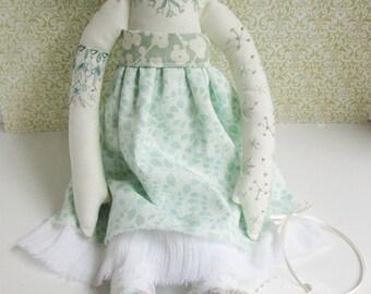 ON SALE! Embroidered cloth woodland doll Sage OOAK