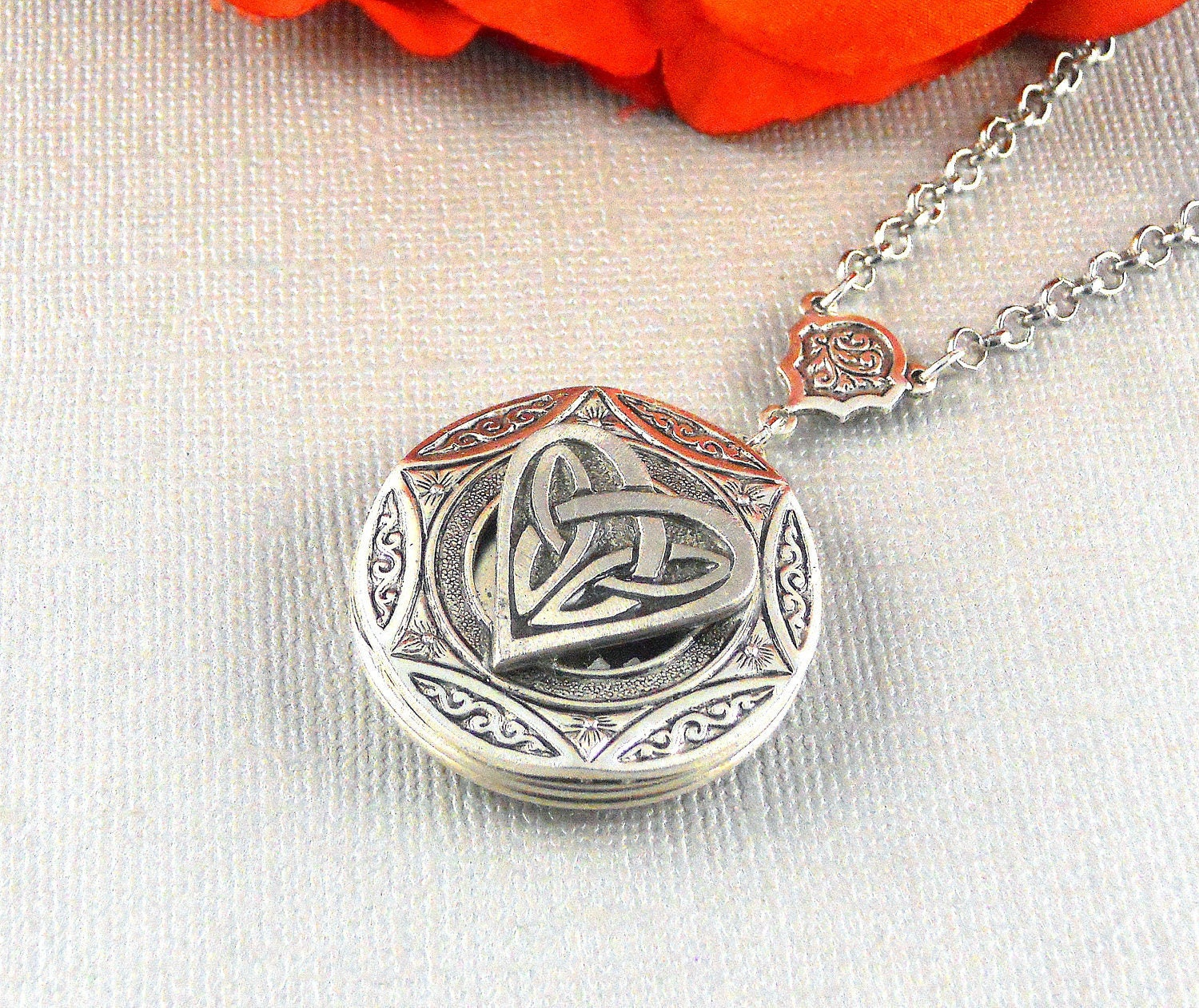 mothers celtic necklace irish locket lockets pin heart