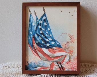 American Flags Acrylic Painting