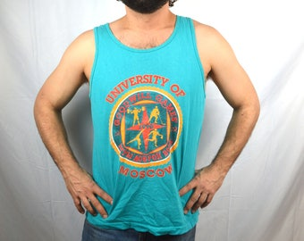 Vintage 1990 Goodwill Games Tank Top Shirt - University of Moscow