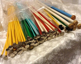 Boye, Made in USA, 14 inch, Plastic Synthetic, Single Point, Single Pairs, Knitting Needles, Collectible Vintage