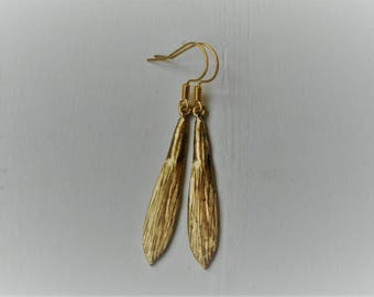 Feather and Leaf Earrings