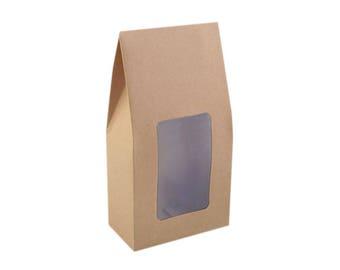bag gift 11 x 21 cm crystal window