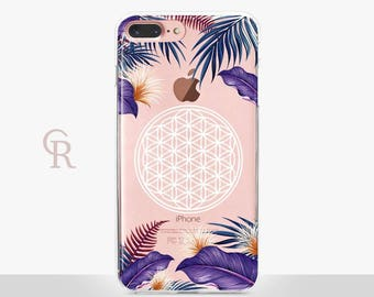 Flower Of Life Clear iPhone 7 Plus Case - Clear Case - For iPhone 8 - iPhone X - iPhone 7 Plus - iPhone 6 - iPhone 6S - iPhone SE