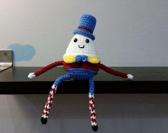 Crochet Humpty Dumpty Amigurumi - Handmade Crochet Amigurumi Toy Doll - Humpty Dumpty Crochet - Amigurumi