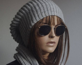 PURE WOOL winter hat hats GRAY womens hats knit hat beanie women womens hats winter winter hats slouchy hat knitted hat