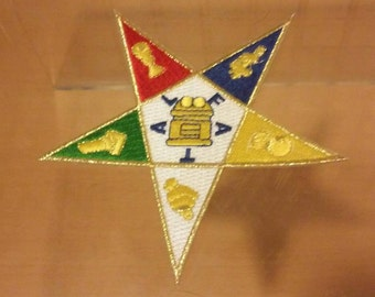 Order of The Eastern Star- 5in Patch