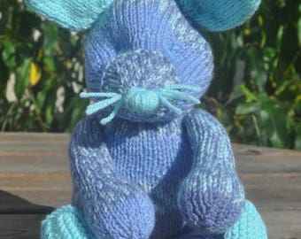 Plush blue mouse with big ears