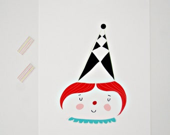 Print -Candy Clown-