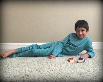 Organic Cotton Stripes Kids Pajama