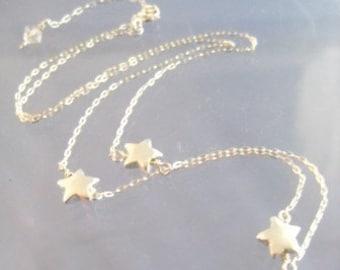 Three Stars Sterling SIlver Mamma Mia Necklace