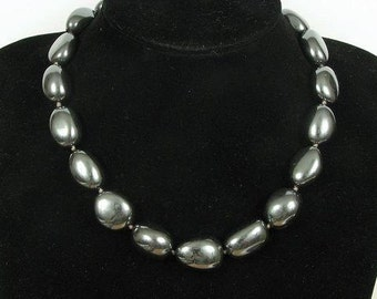 Necklace Hematite 20mm Nuggets 925 Mirror Shine NSHM2387