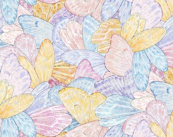 NEW Elizabeth's Studio Multi Angels and Fairies All Over With Metallic fabric - 1 yard