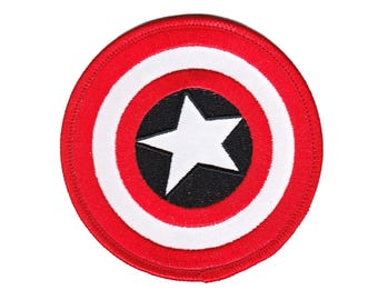 Captain America Iron On Applique, Genuine Marvel Iron On Patch, Shield Patch, Superhero  Applique, Kids Patch, Embroidered Patch
