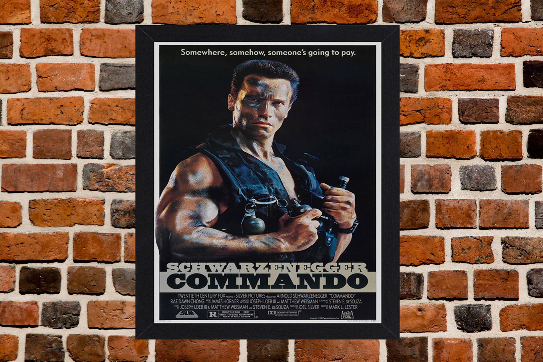 Umrahmt von Kommando Arnold Schwarzenegger Film / Film Poster