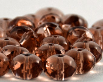 Czech Glass Beads French Rose 9x6mm- 10 Beads