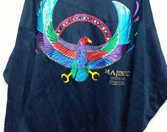 Vintage Majestic international embroidered sweatshirt L