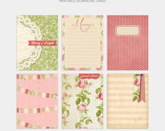 Navidad revista proyecto vida tarjetas planificador tarjetas diciembre para imprimir diario proyecto vida Digital Planner inserto diario tarjetas Shabby