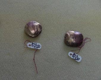Copper and Bronze Mokume Beads