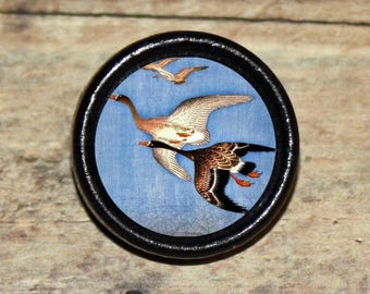 WILD GEESE FLIGHT Asian art Pendant or Brooch or Ring or Earrings or Tie Tack or Cuff Links