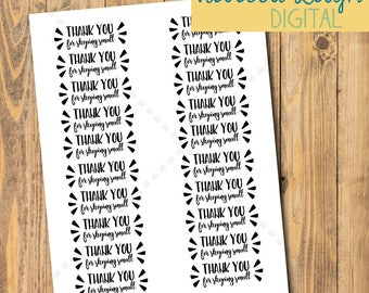 Thank You for Shopping Small | SMALL BUSINESS Thank You stickers | Stickers & Tags | Labels