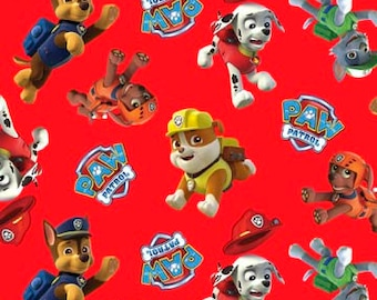 Paw Patrol Rescue Cotton Fabric / Paw Patrol by David Textiles 4017 / Paw Patrol by the  Yard and  Fat Quarters
