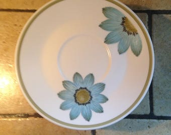 8 Blue Daisy Progression Saucer Plates by Nortake