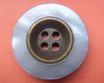 6 buttons blue bronze 23mm (2873) button