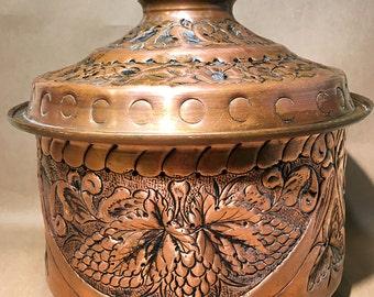 Rare Vintage Copper Pot - Copper Planter - Copper Decor - Copper Serving Dish - Kitchen Decor