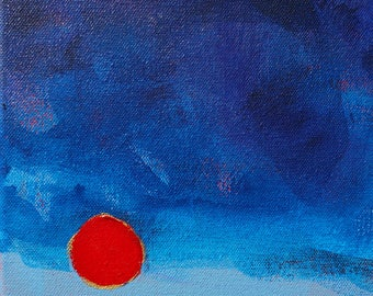 Oregon Eclipse Willamette Valley original abstract landscape painting
