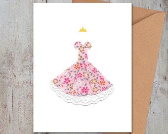 SALE Princess Dress Card