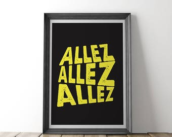 ALLEZ Cycling Print (Black) - Inspired by Tour de France