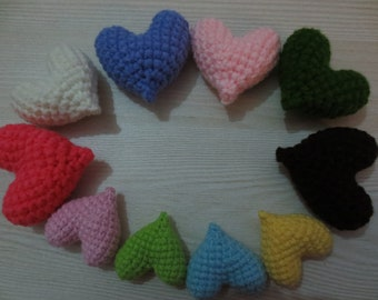 hearts ten crochet knitted finished