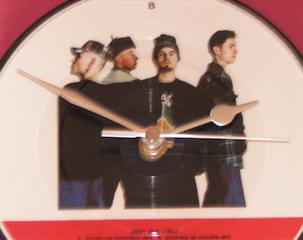 """East 17 West end girls 7"""" picture disc record clock"""