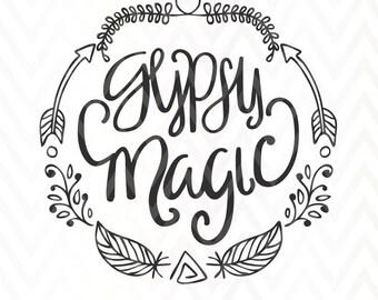 Gypsy Magic Cut File SVG PNG