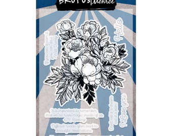 Brutus Monroe Clear Stamp Set - Conservatory of Quotes
