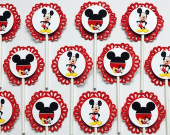12 MICKEY MOUSE Cupcake Toppers - Party Picks - DISNEY