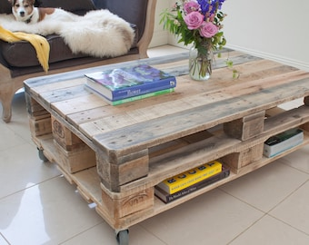 Pallet Coffee Table - Industrial Style - Upcycled Reclaimed Wood