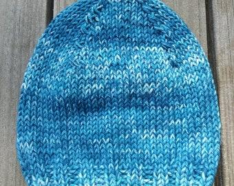 Handmade Hand Knit Vegan Baby Hat Boy 0-3 Months Baby Shower Gift
