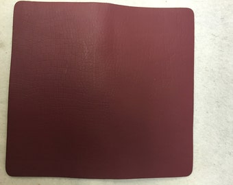 "AM322- Aprox: 7 1/2"" x 8"" x 1/16"" Burgundy leather Squares, pack of 12."