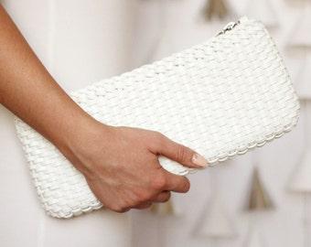 Free shipping! white bag, white clutch, white leather bag, small bag, leather clutch, white small bag, wedding bag, wedding gift