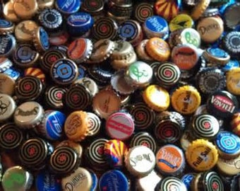 100+ variety beer bottle caps: Import, USA Craft, USA Happy Hour