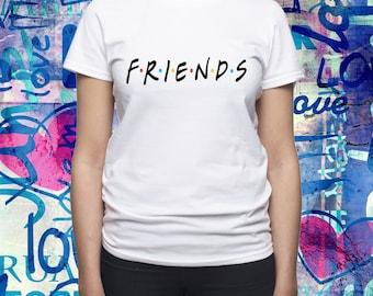 Friends Tv show logo shirt/ Friends Tv series logo tshirt/ Friends Tv show gift/ Womens shirt/ Women t-shirt/ Friends Tv fan t-shirt/ (B9)
