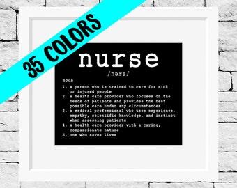 Nurse Definition, Gifts for Nurses, Registered Nurse Print, Nursing Quotes, Nurse Pinning Gift, Nursing Prints, Nursing Student, Graduation